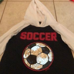 Girls justice active soccer blouse